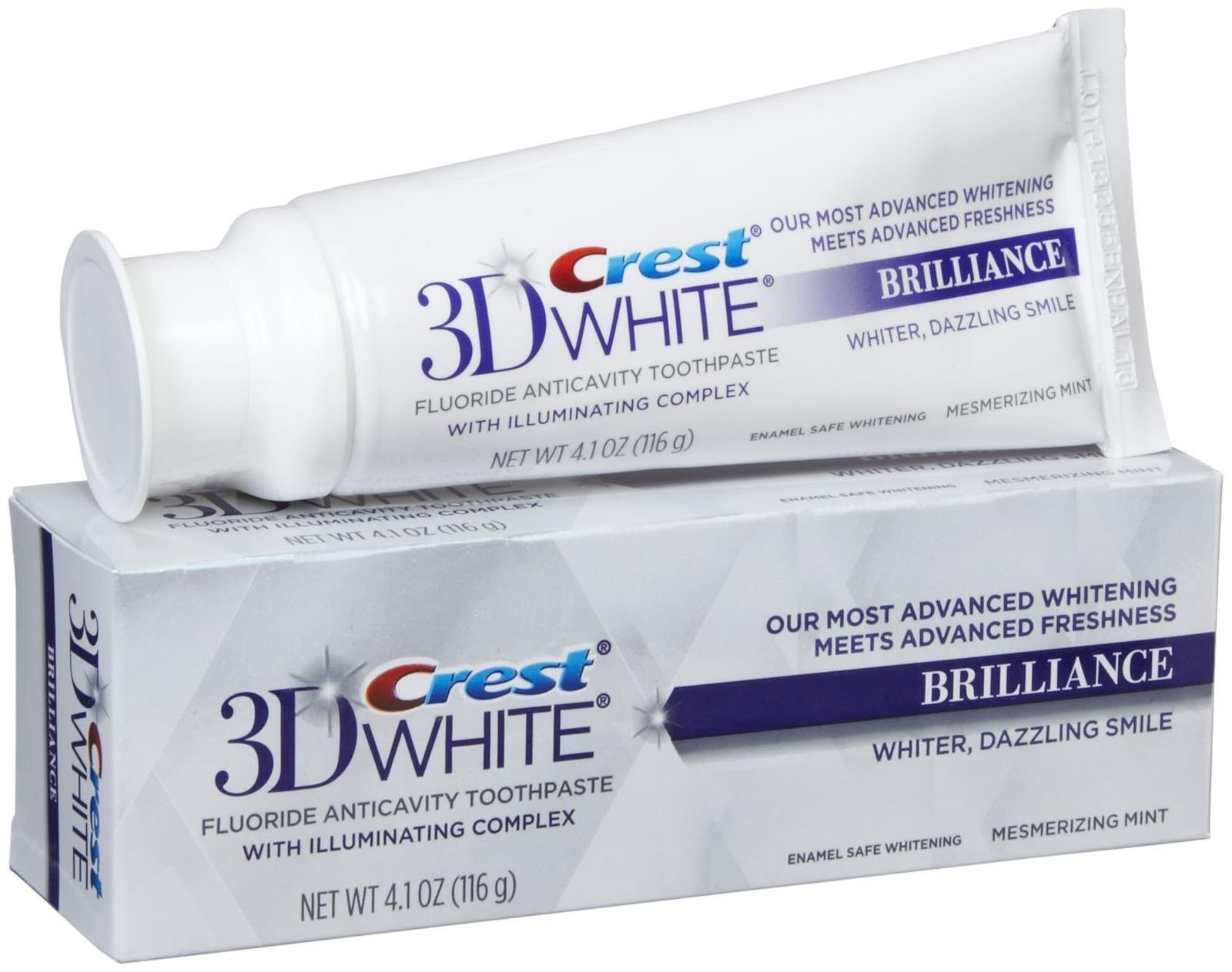 Crest 3D White Brilliance White Toothpaste 4.1oz (116g) - Teeth Whitening Shop