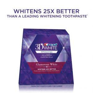crest glamorous white teeth whitening strips