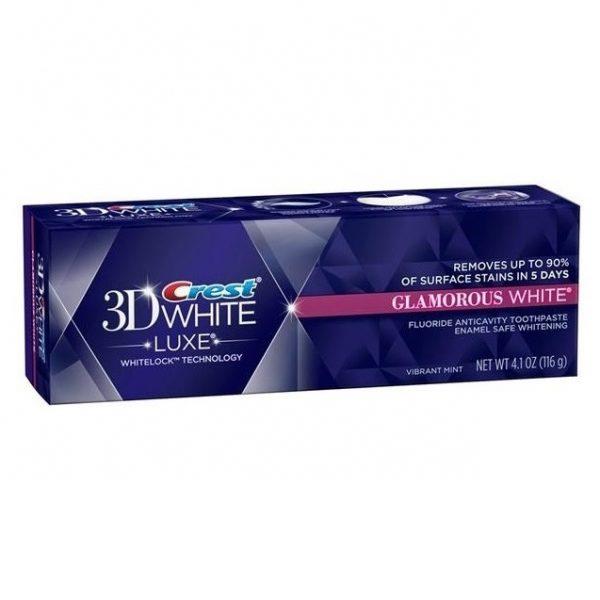 crest glamorous white teeth whitening toothpaste