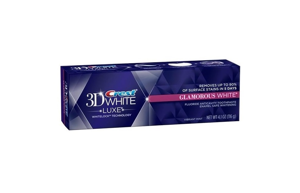 crest glamorous white teeth whitening toothpaste